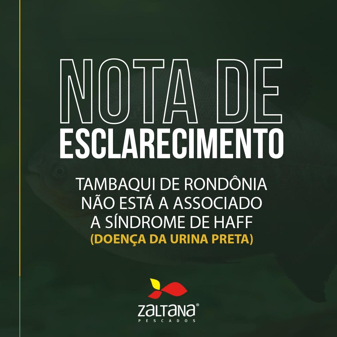 Tambaqui de Rondônia não está associado a Síndrome de Haff